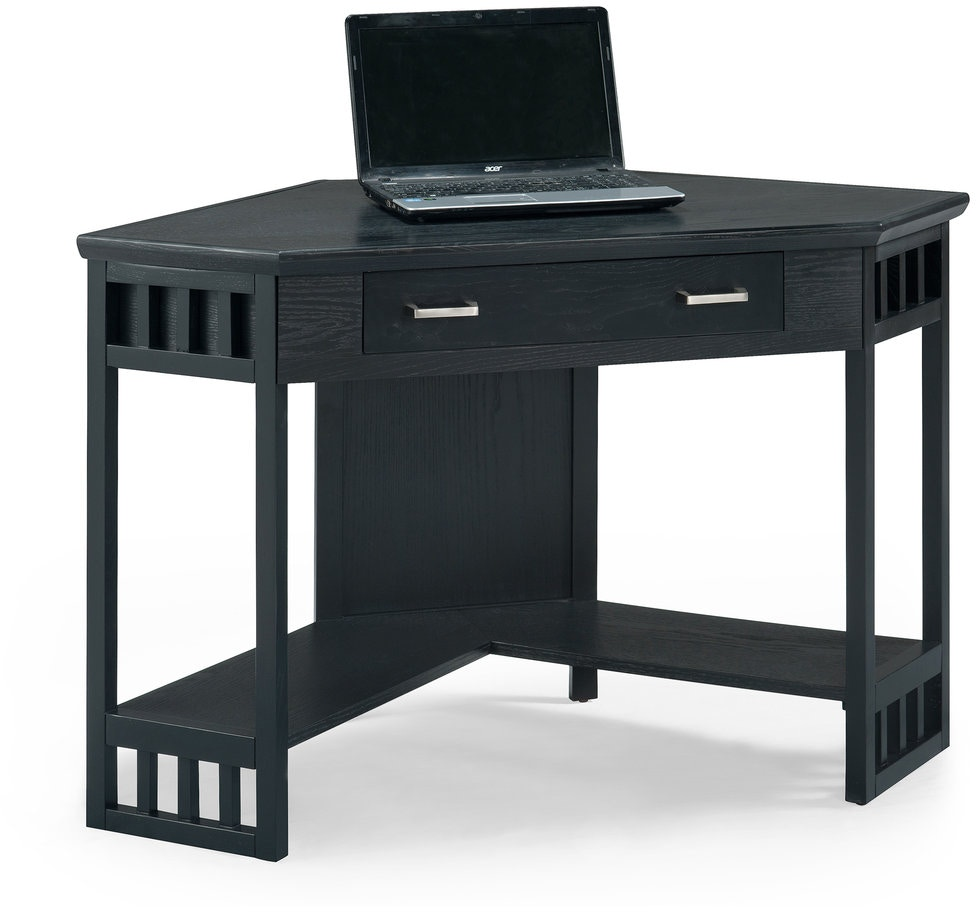 Leick Furniture Home Office Black Corner Computer Writing