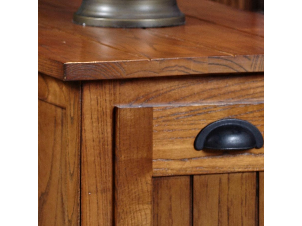 Leick Furniture Living Room Bin Pull Cabinet End 10031