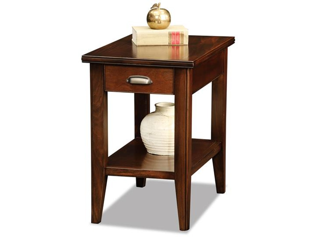 Leick Furniture Living Room Drawer Chair Side Table 10506 Schmitt Furniture Company New