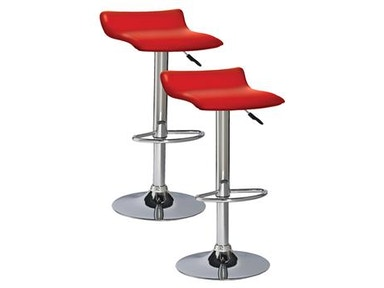 Leick Furniture Red Adjustable Swivel Bar Stool 10042RD