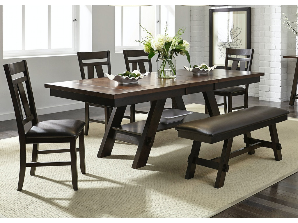 Liberty furniture dining room 6 piece rectangular table set 116 cd 6rts lynch furniture - Rectangular dining table for 6 ...