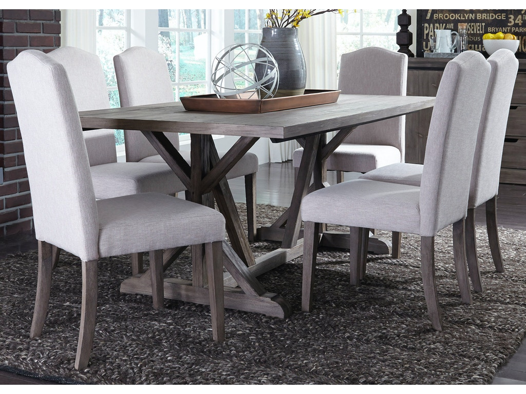 Liberty Furniture 7 Piece Trestle Table Set 140 CD 7TRS