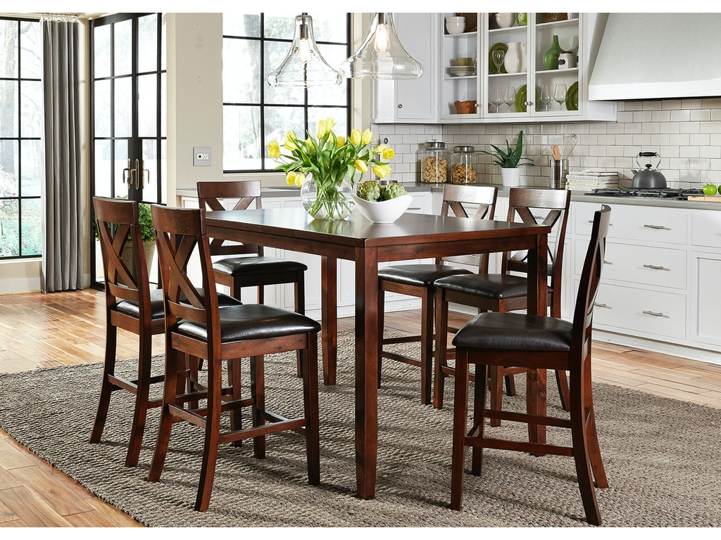 liberty furniture dining room 7 piece gathering table set