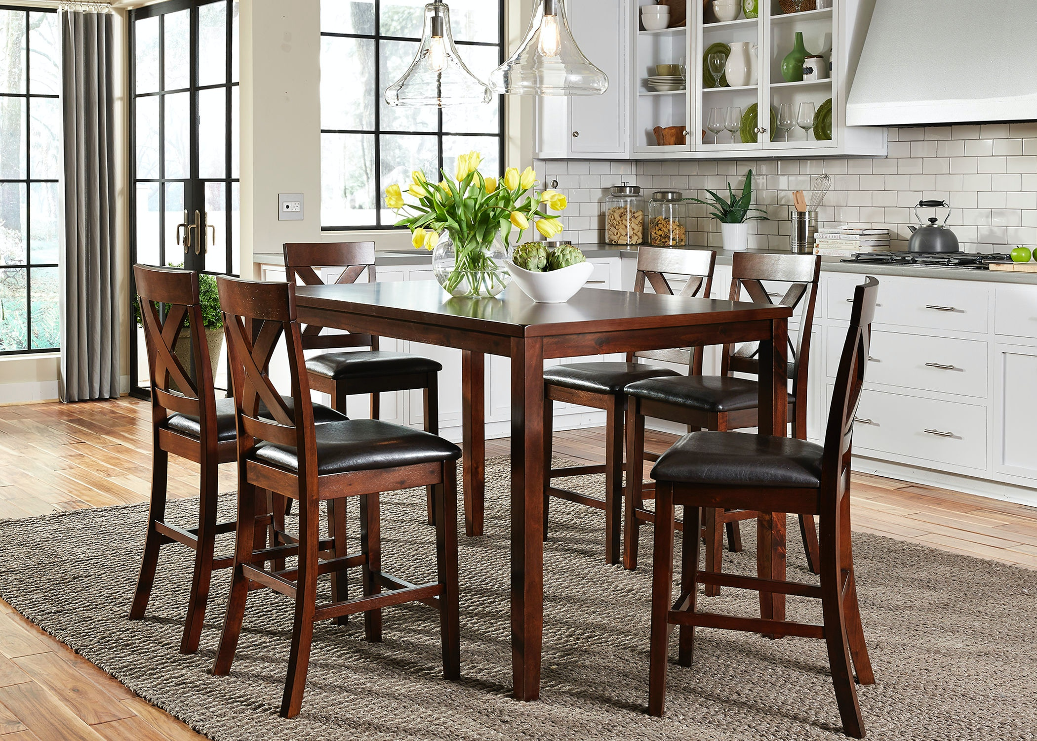 Liberty Furniture 7 Piece Gathering Table Set 164 CD 7GTS