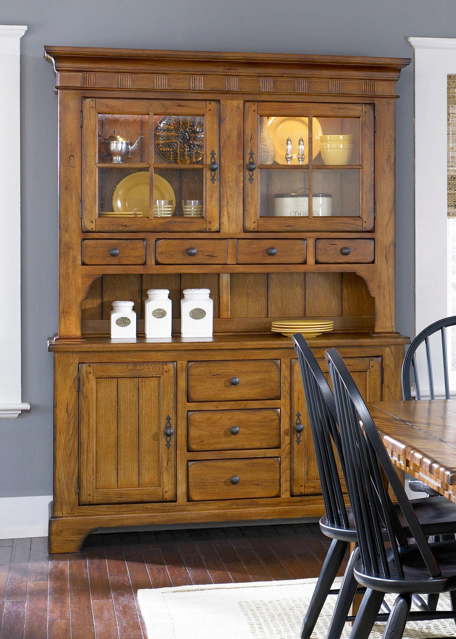 Liberty Furniture Dining Room Hutch - Oak  sc 1 st  A\u0026W Furniture & Liberty Furniture Dining Room Hutch - Oak 17-CH6285 - A\u0026W Furniture ...