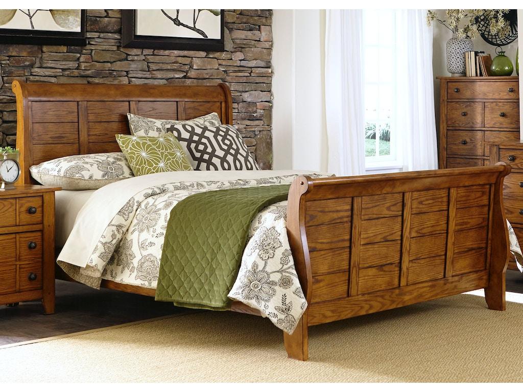 Liberty Furniture Bedroom Queen Sleigh Bed Dresser And Mirror N S 175 Br Qsldmn Seaside