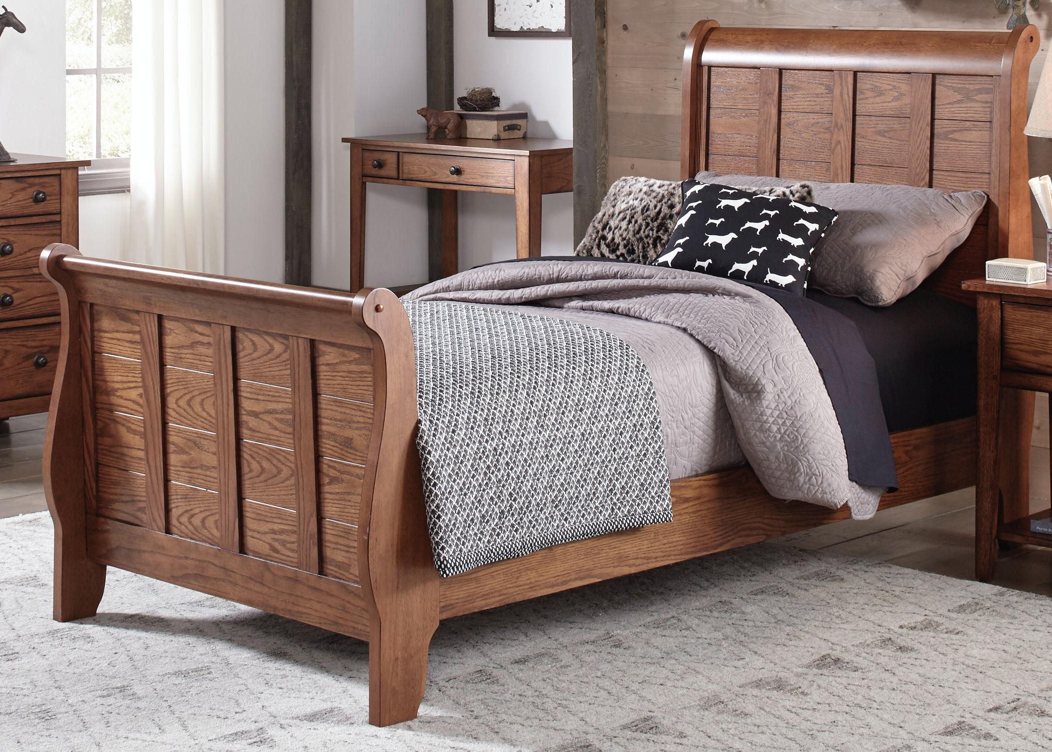 Liberty Furniture Twin Sleigh Bed 175 YBR TSL
