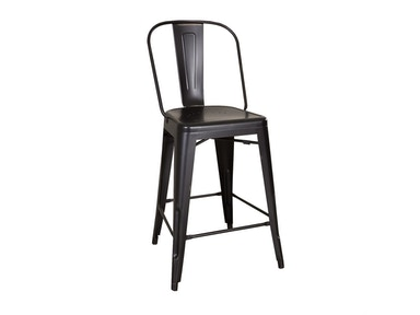 Liberty Furniture Bow Back Counter Chair - Black (RTA) 179-B350524-B