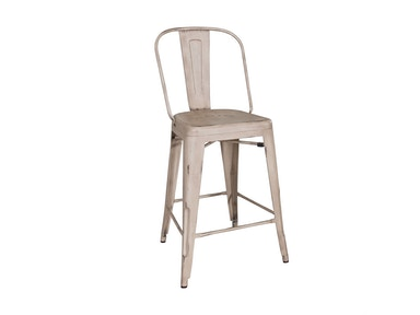 Liberty Furniture Bow Back Counter Chair - White (RTA) 179-B350524-W