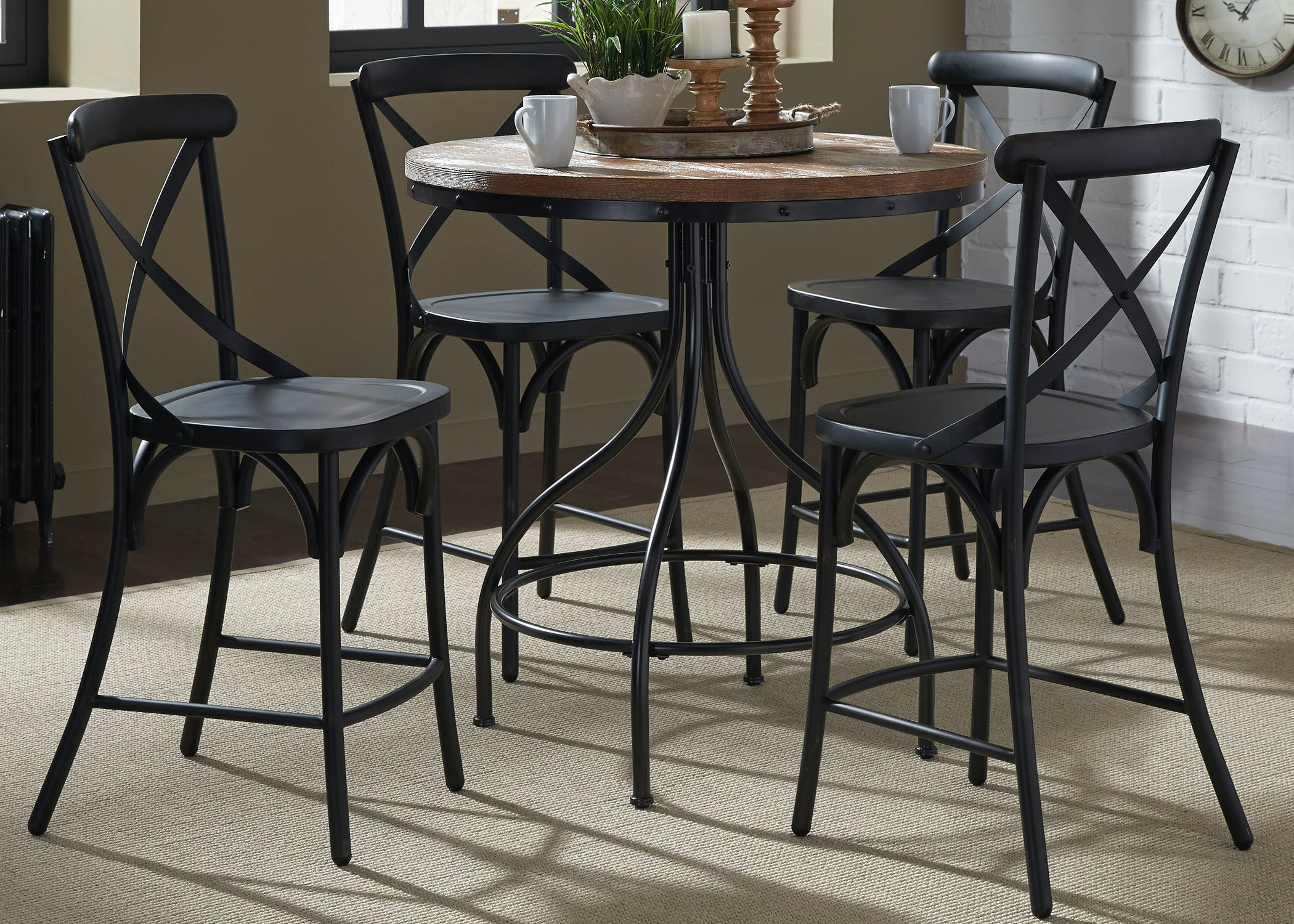 Liberty Furniture 5 Piece Gathering Table Set 179-CD-5GTS ... & Liberty Furniture Dining Room 5 Piece Gathering Table Set 179-CD ...
