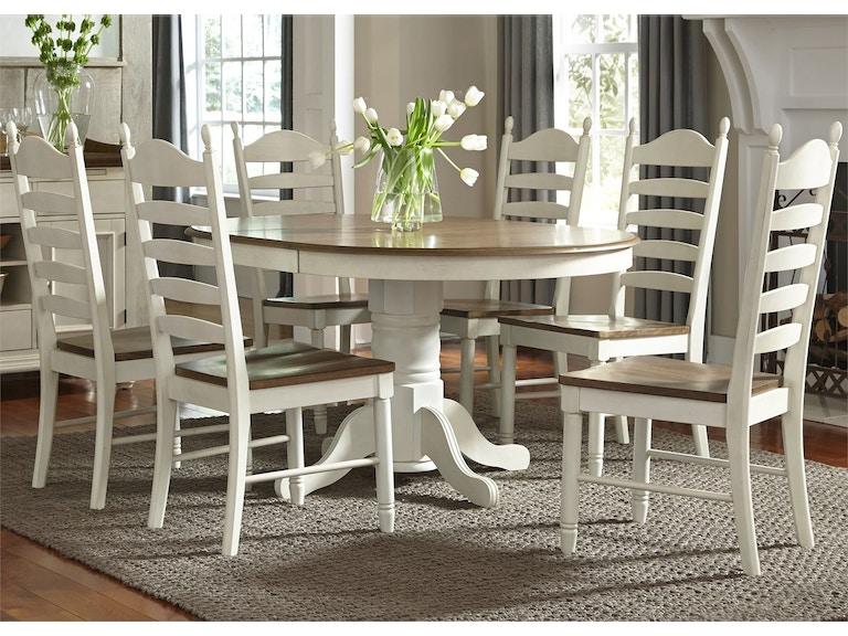 Liberty Furniture Dining Room 7 Piece Pedestal Table Set 278 CD 7PDS
