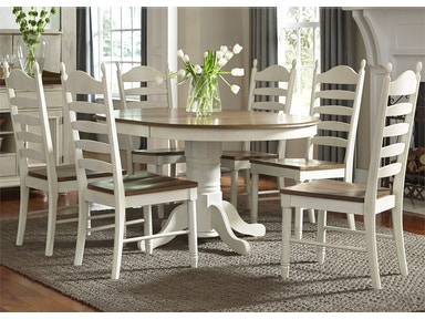 Liberty Furniture Dining Room 7 Piece Pedestal Table Set