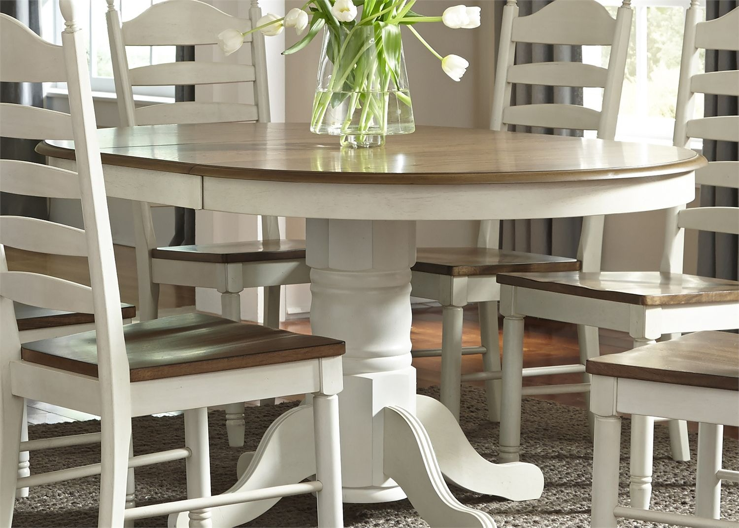 Liberty Furniture Dining Room Pedestal Table Top   Tyndall Furniture U0026  Mattress   Charlotte U0026 Pineville, NC And Fort Mill, SC