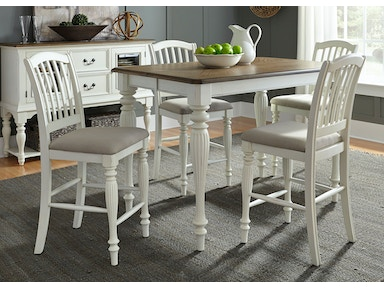 Liberty Furniture Dining Room 5 Piece Gathering Table Set