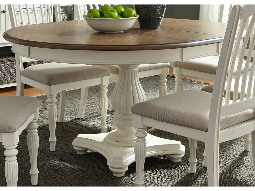 liberty furniture dining room pedestal table top 334 t4860