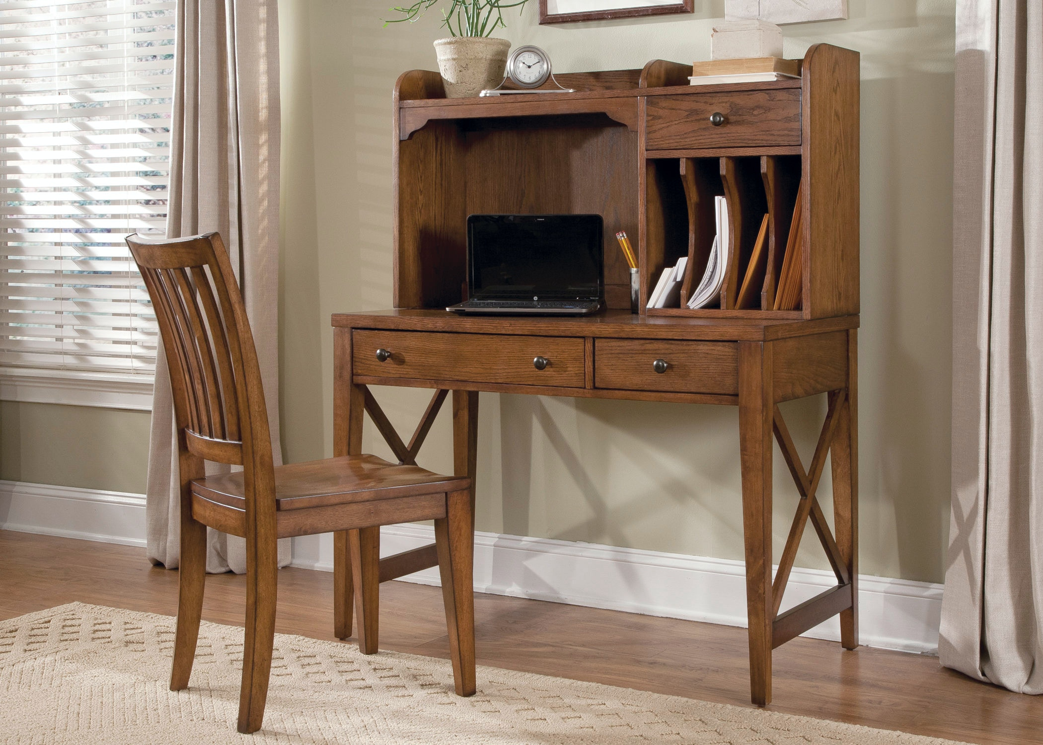 Beautiful Liberty Furniture Home Office Complete Desk 466HOJCDS At Creative