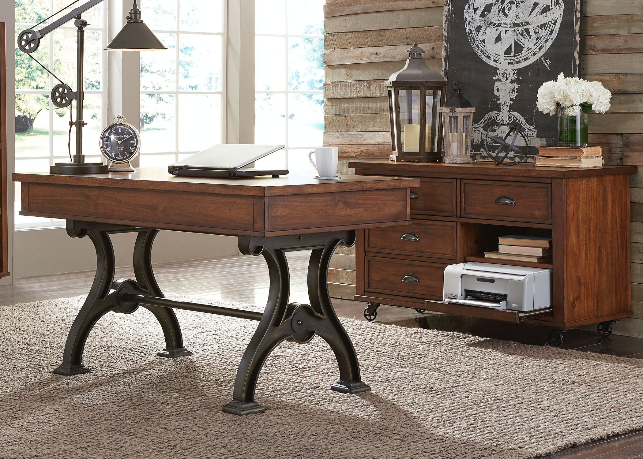 Nice Liberty Furniture Home Office Complete Desk 411 HO CDS   Smith Village Home  Furniture   Jacobus And York, PA