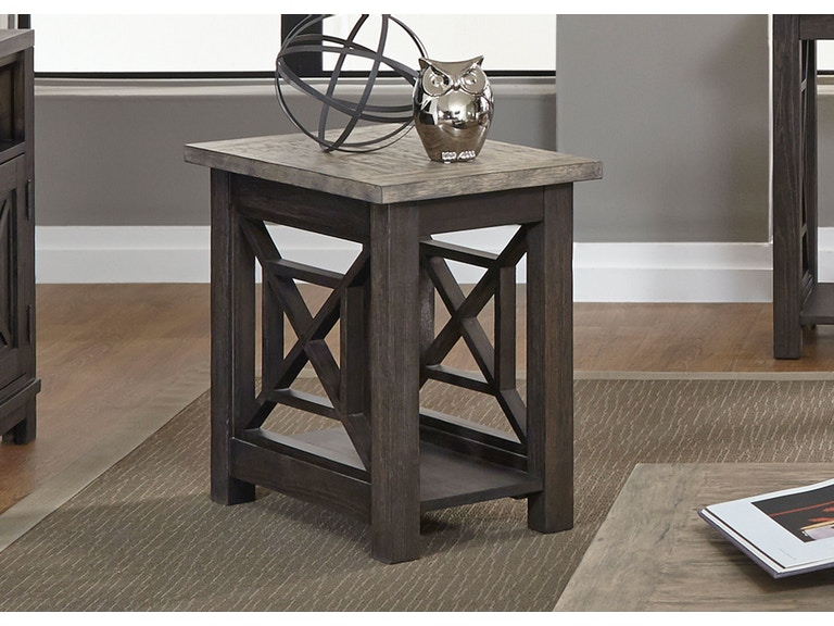 Liberty Furniture Living Room Chair Side Table 422-OT1021 - D Noblin ...