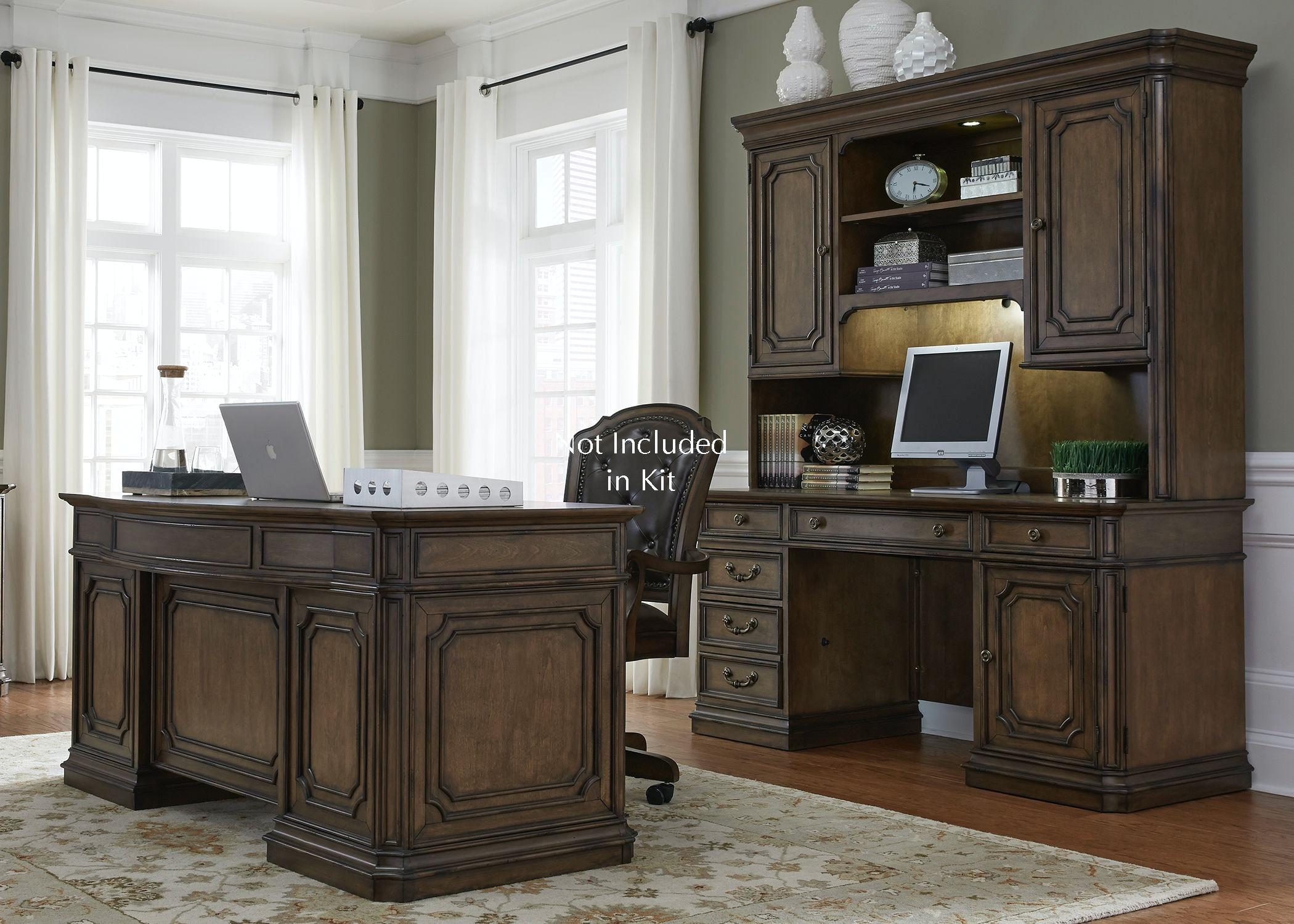 Nice Liberty Furniture 5 Piece Jr Executive Set 487 HOJ 5JES