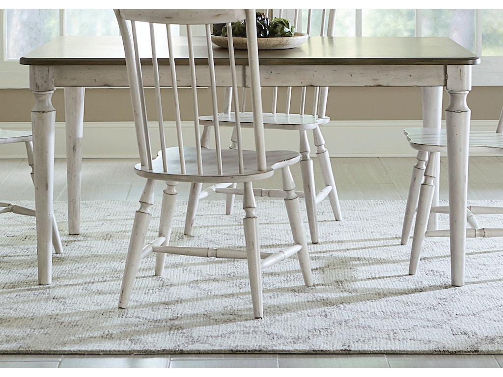 liberty furniture dining room rectangular leg table 517