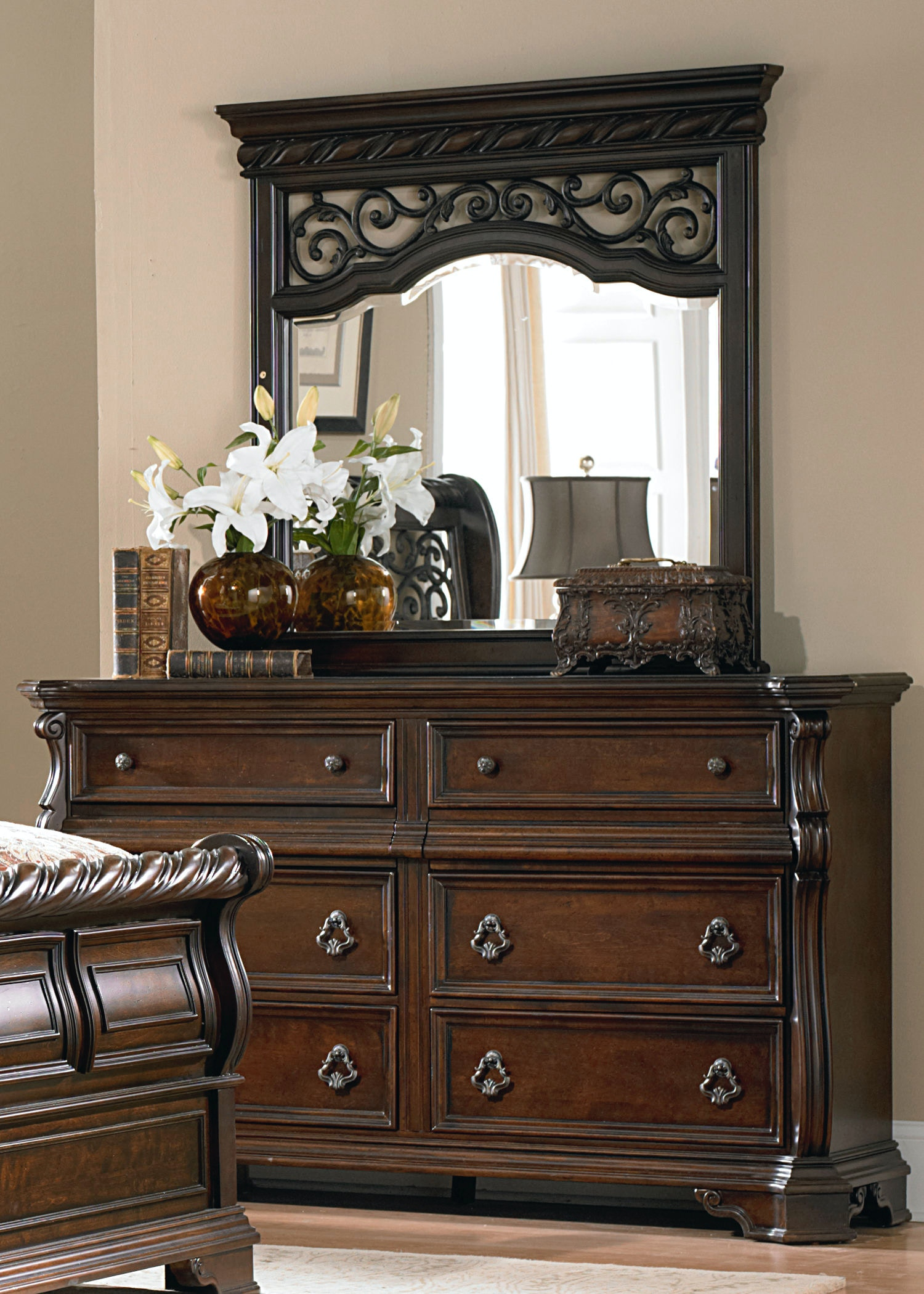Liberty Furniture Bedroom 8 Drawer Double Dresser 575 BR31 At D Noblin  Furniture