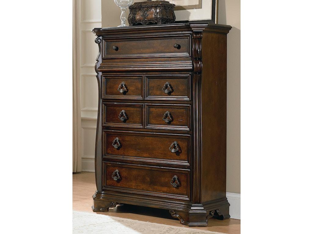 Liberty furniture bedroom 6 drawer chest 575 br41 for Bedroom 6 drawer dresser