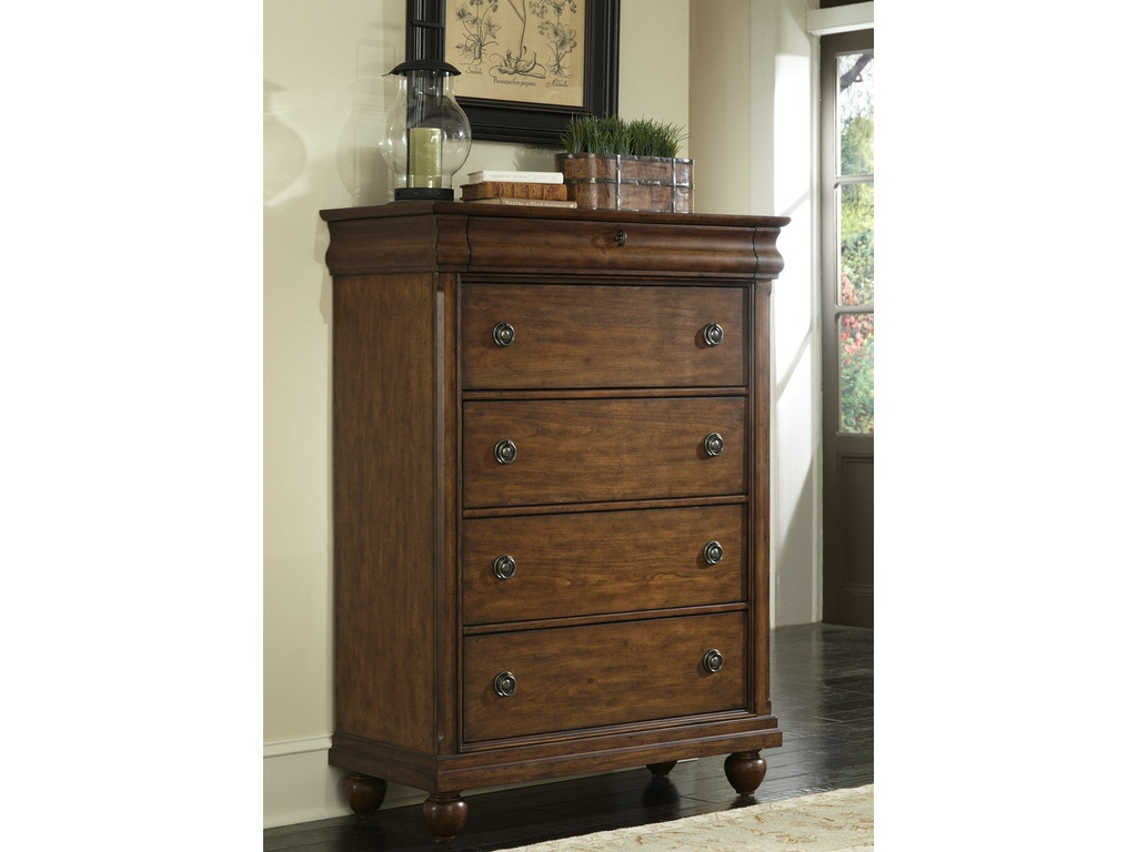 Liberty furniture bedroom 5 drawer chest 589 br41 lynch for Bedroom 5 drawer chest