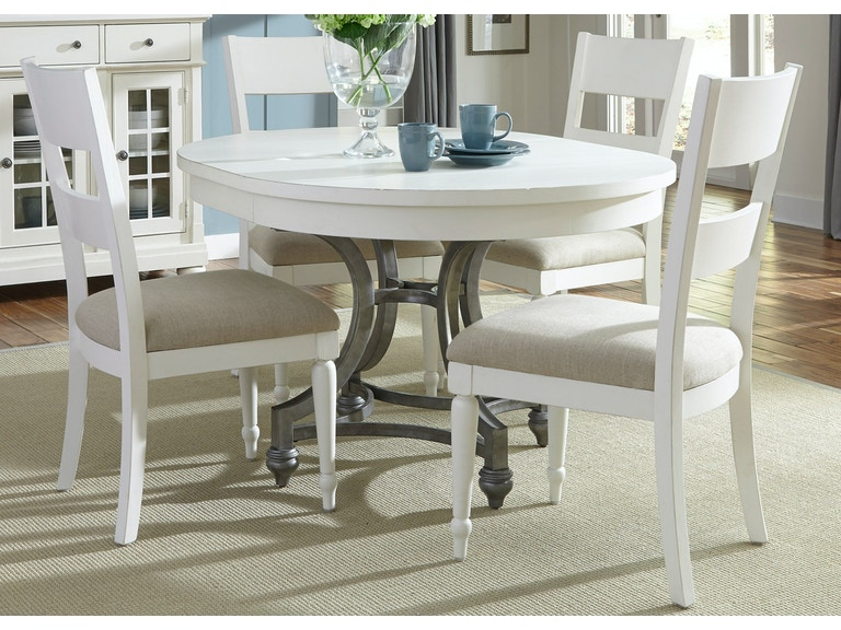 Liberty Furniture Dining Room 5 Piece Round Table Set 631 DR 5ROS