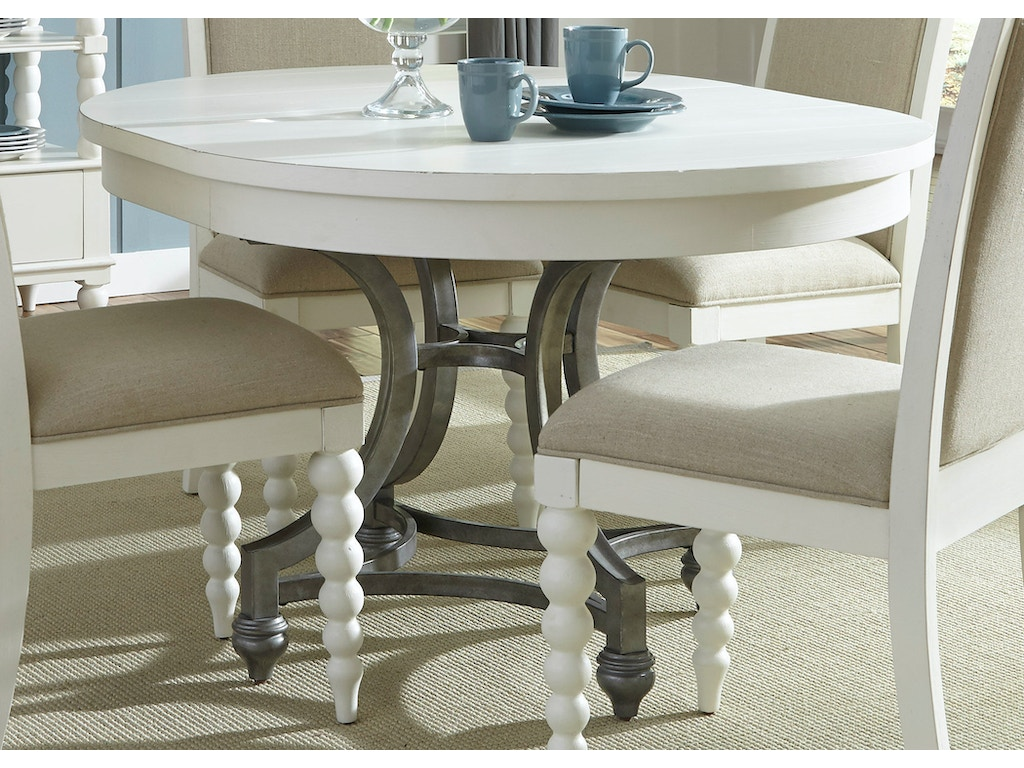 Liberty Furniture Dining Room Round Dining Table 631 T4254 D Noblin Furniture Pearl And