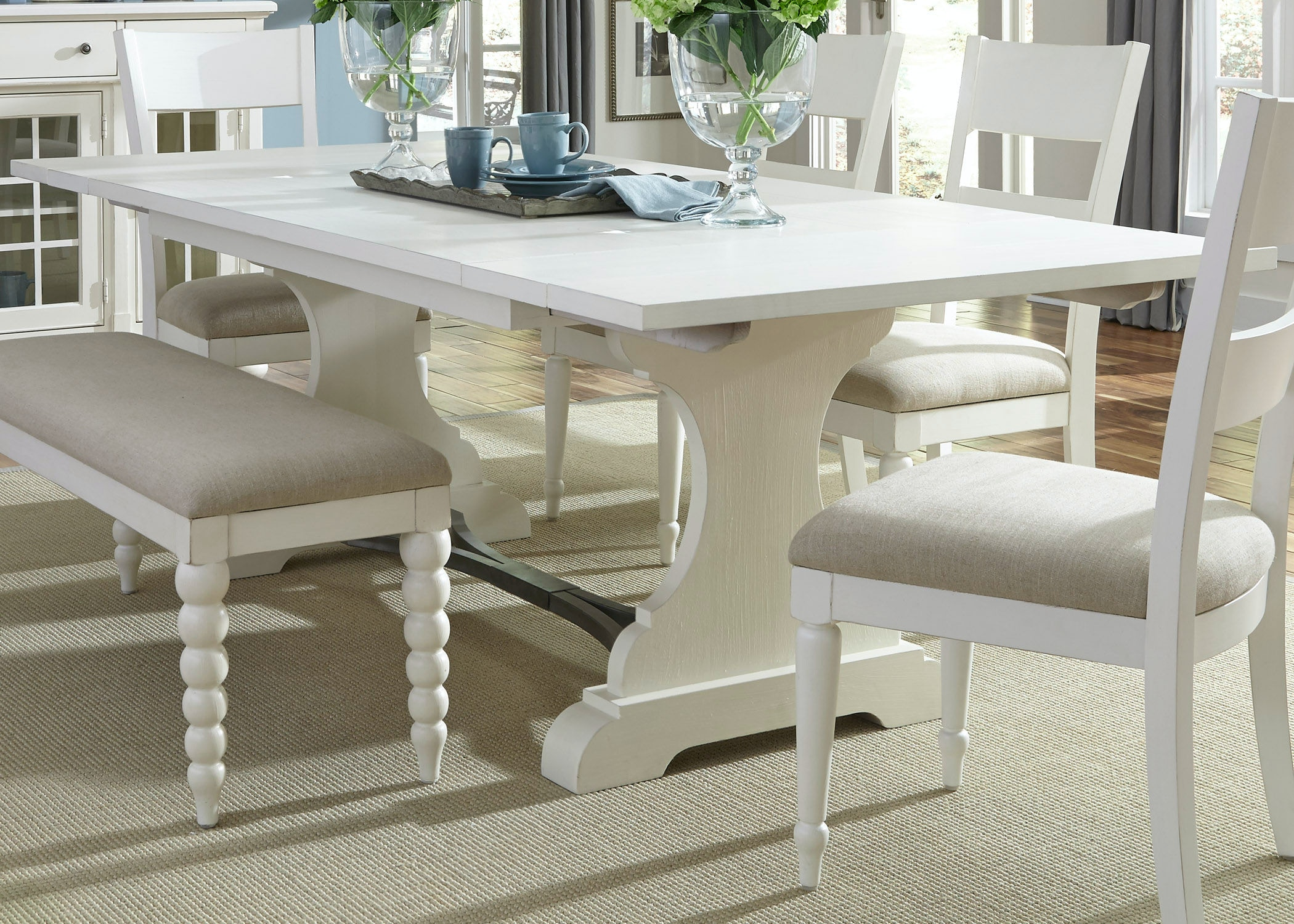 Liberty Furniture Dining Room Trestle Table 631 T4294   Smith Village Home  Furniture   Jacobus And York, PA
