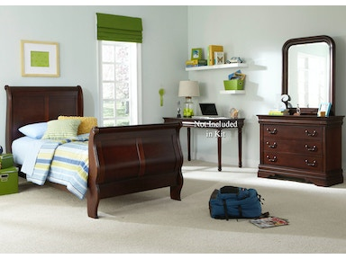 Liberty Furniture Full Sleigh Bed, Dresser And Mirror 709-YBR-FSLDM