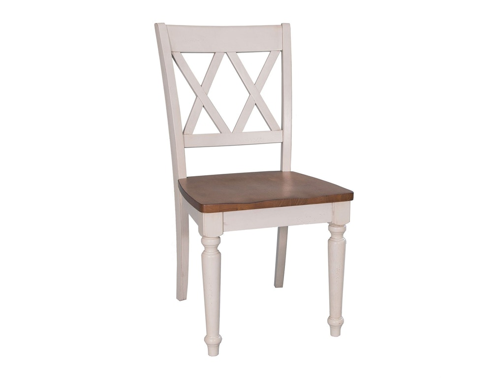 Liberty furniture dining room double x back side chair for X back dining room chairs
