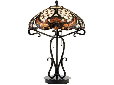 Lite Source Table Lamp - Dark Bronze/Tiffany Shade C41069