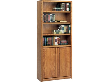 Martin Home Furnishings Bookcase With Lower Doors 003070D