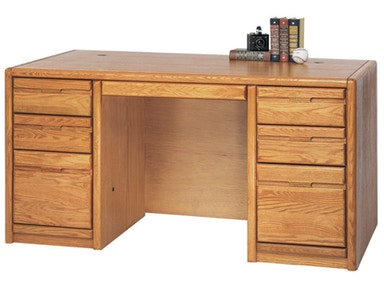 "Martin Home Furnishings 60"" Double Pedestal Desk 006701"