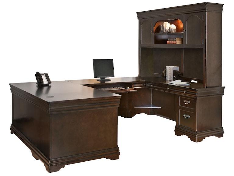 Martin home furnishings home office u shaped desk bt684r c simply discount furniture santa - Discount home office furniture ...