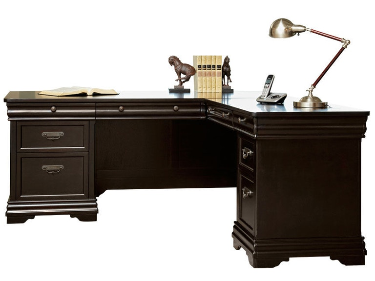Martin home furnishings home office right hand facing l shaped desk bt684r simply discount - Martin home office furniture ...