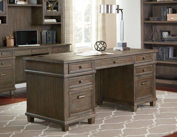Martin Furniture Double Pedestal Desk IMCA680