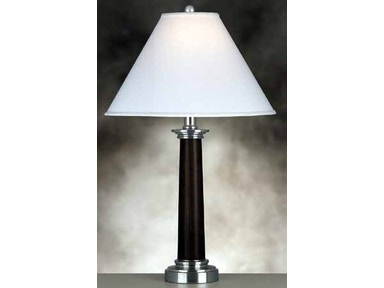 Medallion Lighting Room Group Lamp and Shade 31 in. 124 TLH-1 Ebony