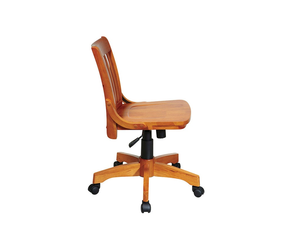 Armless bankers chair -  Office Star Products Deluxe Armless Wood Banker S Chair 101fw