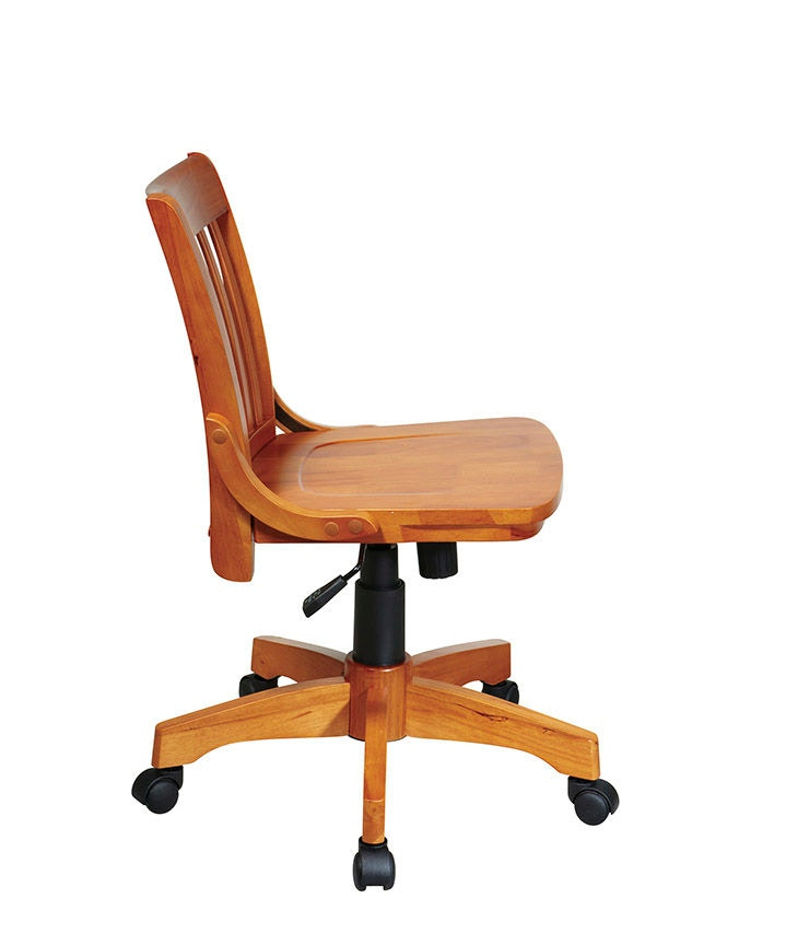office star products deluxe armless wood chair 101fw