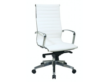 Office Star Products High Back White Eco Leather Chair 74023LT