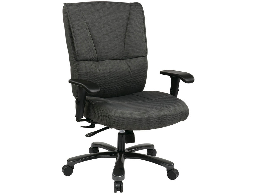 Office star products home office big and tall deluxe grey executive chair 7602r at everetts furniture