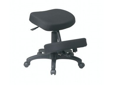 Office Star Products Black Ergonomically Designed Knee Chair KCM1425