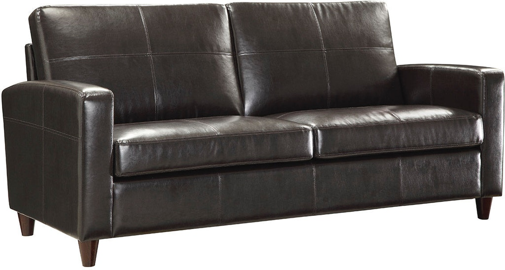 Office Star Products Espresso Eco Leather Sofa Sl2813 Ec1