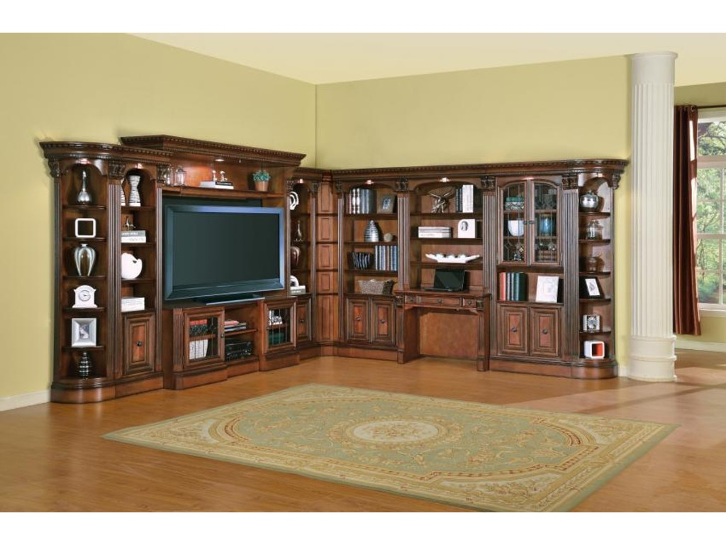 Living Room Cabinets With Glass Doors Parker House Home Office 32 Glass Door Cabinet Hun 440