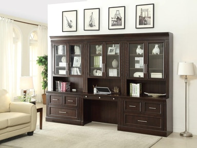 Parker House Library 2 Drawer Lateral File and Hutch STA-476-2
