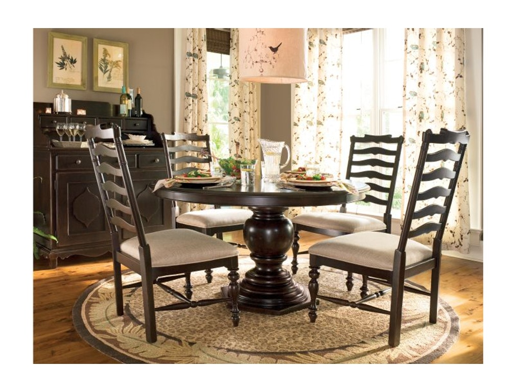 Paula Deen By Universal Dining Room Round Pedestal Table 932655 Matter Brot