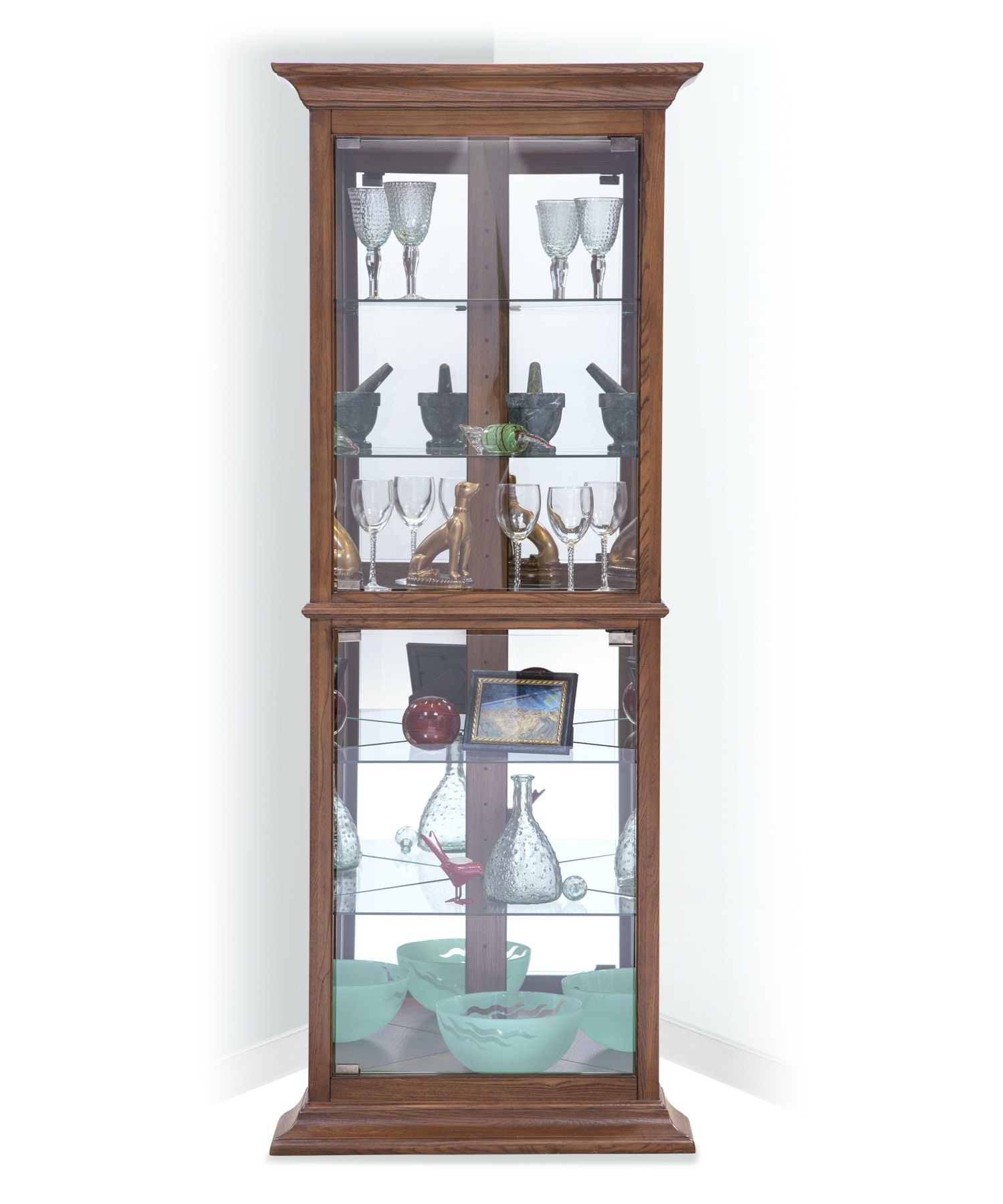 Philip Reinisch Fairfield I Corner Curio Cabinet 12851