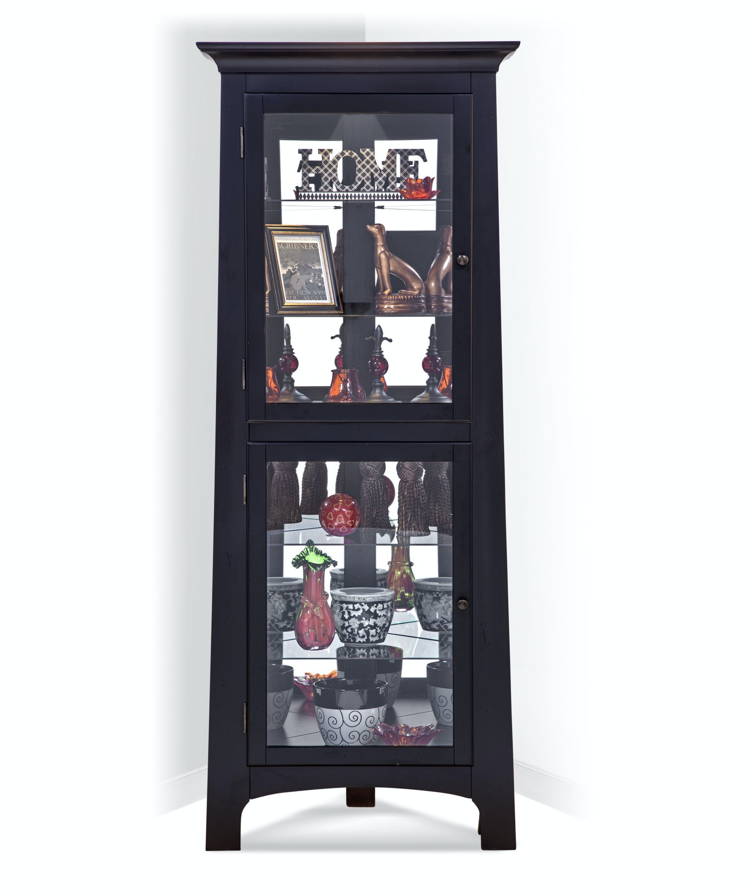 Philip Reinisch Living Room Lancaster I Corner Curio Cabinet 13357    Michael Anthony And Suffern Furniture Gallery   Union, NJ And Suffern, NY
